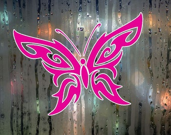 Hot Pink Butterfly Decal