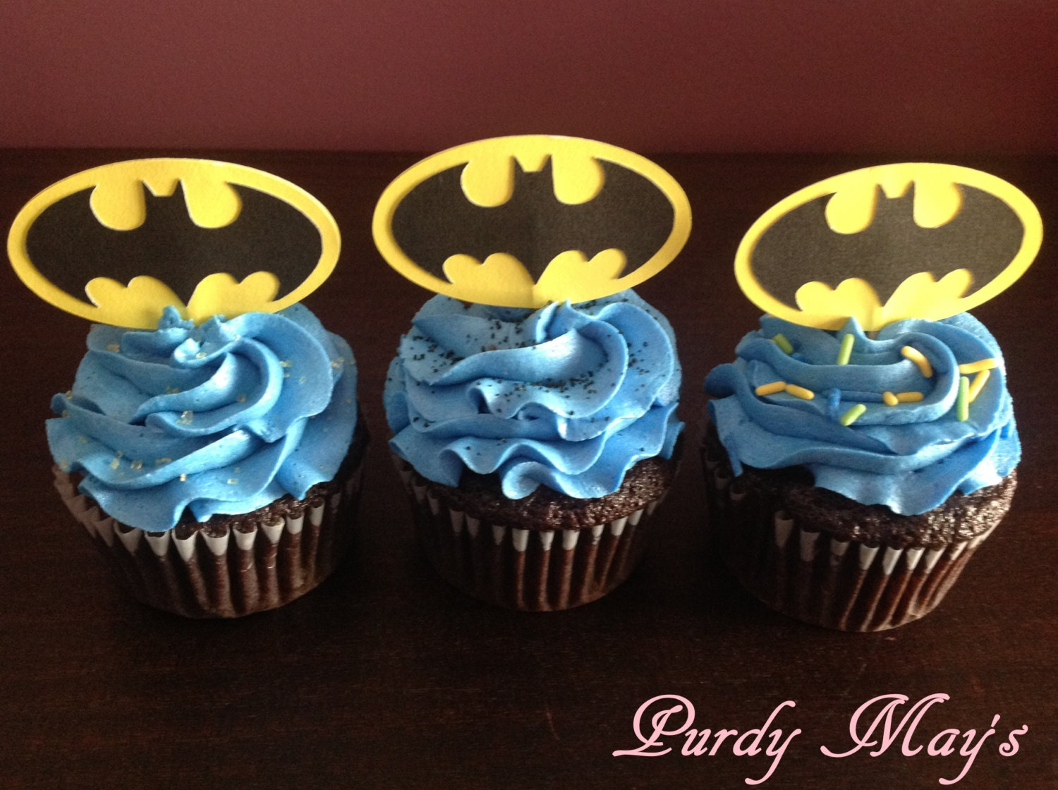 Batman Cupcake Toppers Batman Cupcake Picks Batman Party