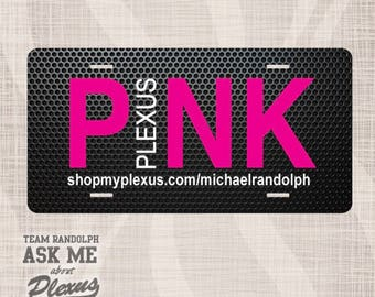 Plexus License Plate, Plexus Personalized, Plexus Personalized License Plate, AskMeAboutPlexus, Pink Plexus License Plate, Car Tag