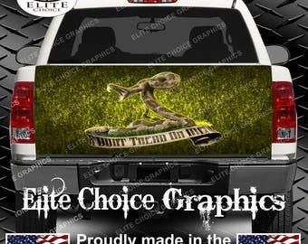 Gadsden Flag Truck Tailgate Wrap Vinyl Graphic Decal Sticker Wrap