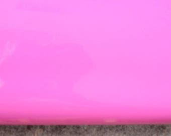 Glossy Pink Leather Hide 80cm x 60cm 1,2-1,4 mm Lacquered Pink Leather Hide  Italian Leather Genuine Hide Plush Pink Bubble Gum Pink  b769