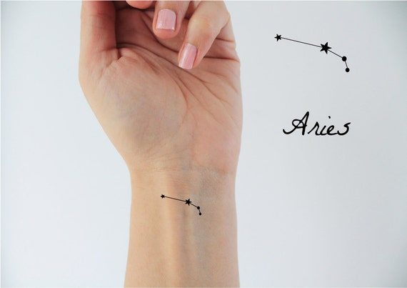 6 Aries zodiac temp tattoos / temporary tattoos / Aries zodiac / Aries constellation / stars temp tattoo / constellation tattoo