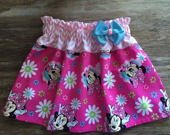 Minnie Skirt, Mouse Girl Skirt, Skirt With Minnie Mouse