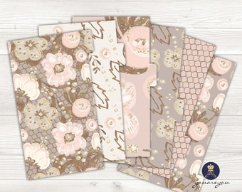 Planner Dividers Personal size, A5 Planner Dividers set of 6, Blushing Blooms Planner Dividers