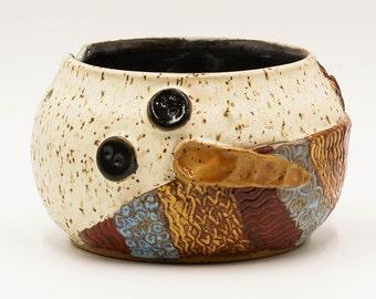 Snowman Yarn Bowl | Yarn Bowl | Knitting Bowl | Pottery | Ceramic | Stoneware | Pottery Yarn Bowl | Ceramic Yarn Bowl | Handmade Pottery