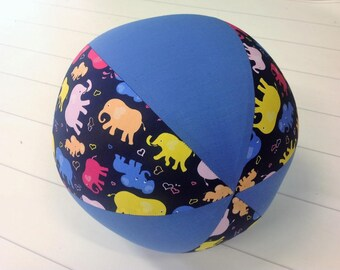 Balloon Ball Fabric, Balloon Ball Cover, Portable Ball, Travel Ball, Inflatable, Sensory, Special Needs, Elephants, Blue, Kids, Dogs, Eumund