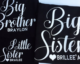 Big or Little Sister or Brother T Shirt