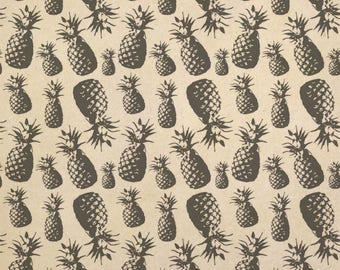 Merry Pineapples Kraft Present Gift Wrap Wrapping Paper