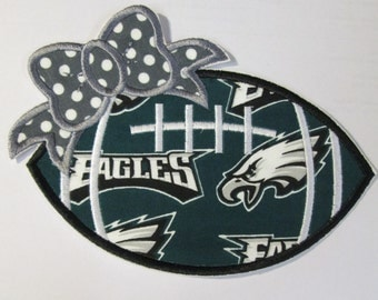 Ready To Ship in 3-5 Business Days - Team Eagles - Iron On or Sew On Embroidered Applique