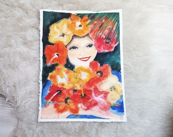 Hawaiian dream original  Watercolour on paper Moulin du Roy.