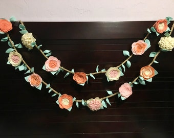 Felt Flower Garland nursery wedding decoration - Home decor