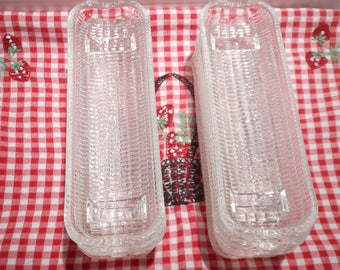 Vintage Glass Corn On The Cob Holders/Farmhouse Decor