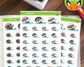 Swimming Fitness Kawaii Girl Workout Exercise Sticker Set - Planner Stickers - Planner Decorations - Kikki-K & Erin Condren