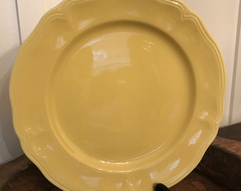 Vintage Buttercup Federalist Ironstone 12 Inch Yellow Serving Platter or Cake Plate | Made in Japan