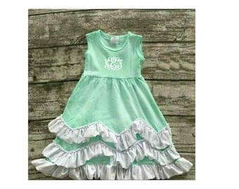 Boutique Girls / Baby Spring Summer Mint Green Ruffle Dress