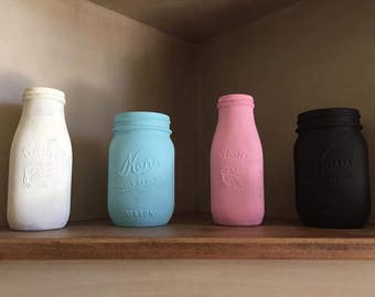 Mason Jar & Milk Bottles