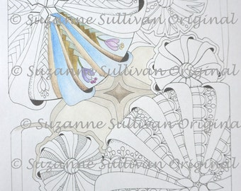 Circles Coloring Page, Adult Coloring Page, Printable Download, Art Doodle Coloring, Art Coloring Therapy, Coloring Page, Doodle Coloring