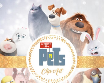 The Secret Life Of Pets Clipart - Digital 300 DPI PNG Images, Photos, Scrapbook, Digital, Cliparts - Instant Download
