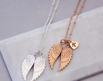 Angel wings necklace | Family necklace | Wanderlust jewellery | Bohemian jewellery | Statement necklace | Memorial jewellery | Wish necklace