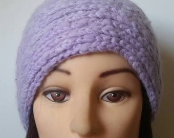 Hand crochet cashmere hat from loro piana yarn