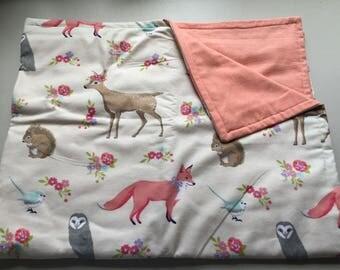Woodland Flannel Baby Blanket