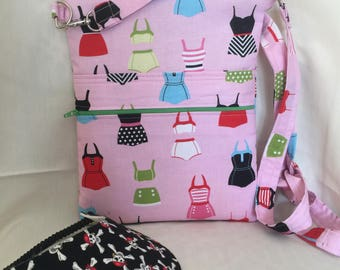 Pink SwimSuit Season Cross Body Sling Tote