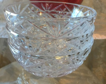 Vintage Crystal Bowls, Crystal Bowl Set of Three