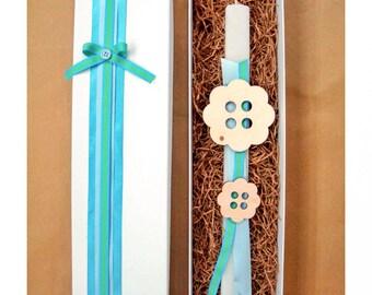 Pascha easter gift etsy easter candle greek easter wooden ornament godson gift goddaughter gift negle Images