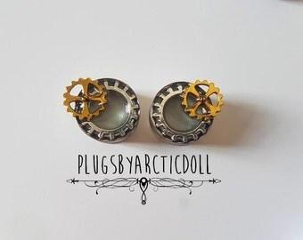 Pair of 20mm steampunk plugs