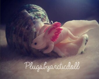 Handmade necklace axolotl