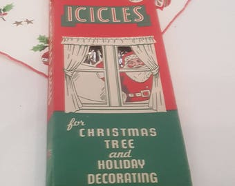 Vintage Brite Star Christmas Icicles Silver Tinsel Decoration Box