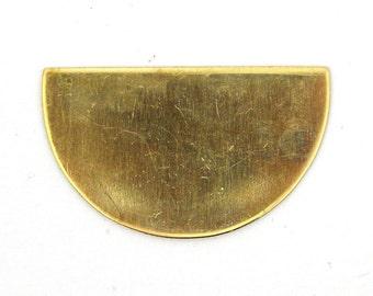 4 Solid Brass Half Circle Blanks SKU-BB-6