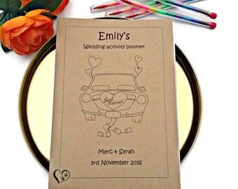 Kids wedding colouring activities, wedding activity books, childrens activity packs, wedding coloring book, childrens wedding activities