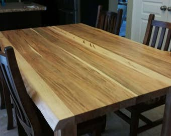 Live Edge Wormy Maple Dining Table, Live Edge Table, Live Edge Furniture,  Maple