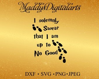 Harry Potter SVG File, I solemnly swear Digital File, EPS File, File For Silhouette, Vinyl Projects File