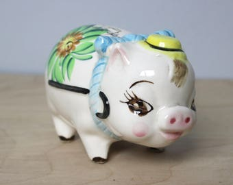 "Vintage Piggy Bank ""Cash Only - No Refunds"""