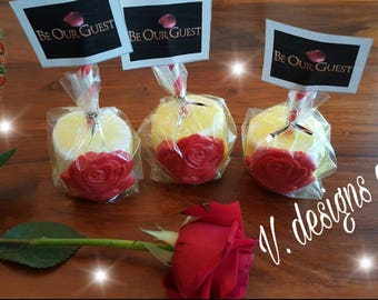 Beauty and the Beast marshmallow pops (one dozen)