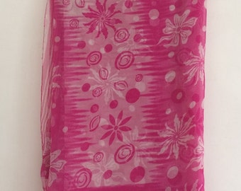 Free Shipping Vintage Floral Design Printed Fabric Curtain Drape Indian Saree VKEA126
