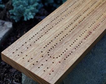 Canary Wood Cribbage Board Handmade