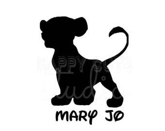 Personalized Simba Lion King Disney Decal / Lion King Safari Magic Animal Kingdom Matching  Family Disney Iron On Vinyl for Shirt 345