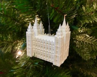 Salt Lake City, Utah LDS Temple Christmas Ornament