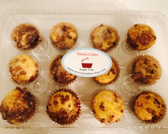 Sugar Free Cinnamon Pecan Muffins