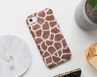 Giraffe iPhone Case - iPhone 7 Case, iPhone 6 Case, iPhone 6s Case, Faux Fur iPhone Case, Furry iPhone Case, Fun iPhone Case, Art iPhone