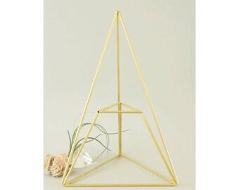 Himmeli PIRAMID: Geometric table planter - Mobile - Air plant holder - Indoor planter - Minimal - Modern home decor - Display jewelry box
