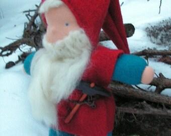 Olaf, Waldorf doll, tomten, leprechaun, handmade, small doll, gnome doll, manikin doll, fabric cloth doll, rag elf doll, baby boy doll