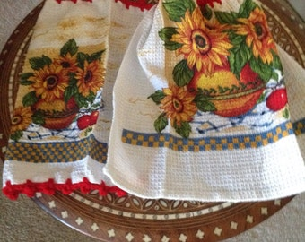 Kitchen towel and dish cloth set