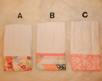 Burp Cloth, Premium Burp Cloth, Baby Gift, Baby Girl, Floral