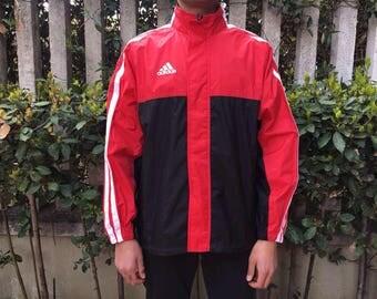Adidas Windbreaker Vintage 90s Sportswear Size L Unisex rain jacket