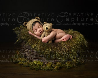 Newborn Digital backdrop / background / Newborn prop nest