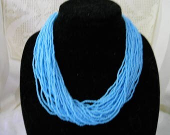 Turquoise Sea Bead Necklace #208